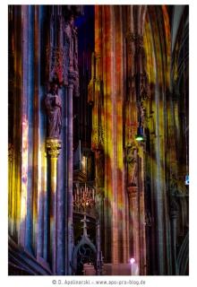 Wien im Stephansdom, Lichtinstallation