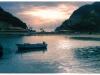 Korfu, Sonnenunterg bei Peleokastritsa