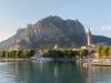 Blick auf Lecco und die Berge