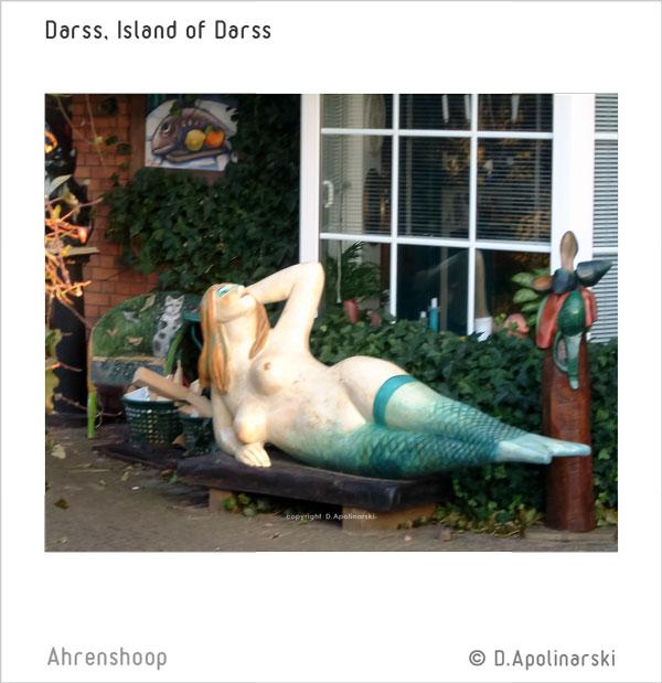 Kunstobjekt in Ahrenshoop Meerjungfrau, Darss