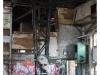Lokschuppen, Halle mit Graffitis